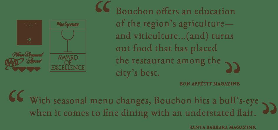 quotes from customers of bouchon Santa Barbara